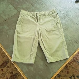 VInce Army Green Bermuda Shorts